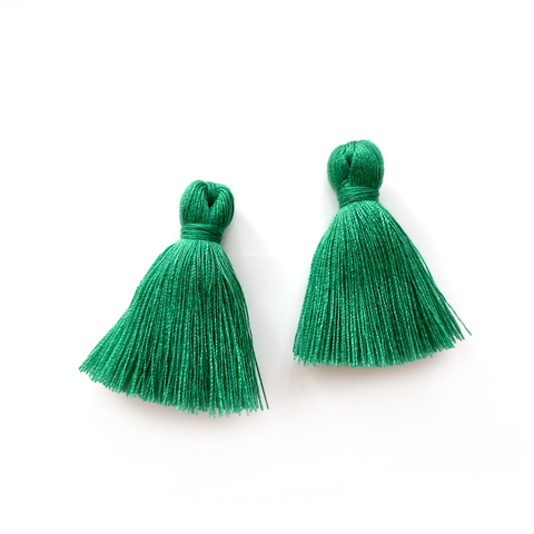 40mm Cotton Tassels - 1 pair (Lichen)