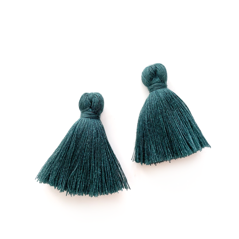 40mm Cotton Tassels - 1 pair (Forest)