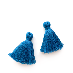 40mm Cotton Tassels - 1 pair (Peacock)