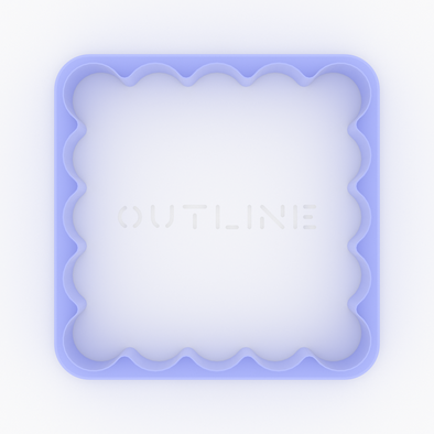 Square Scallop Coaster Cutter