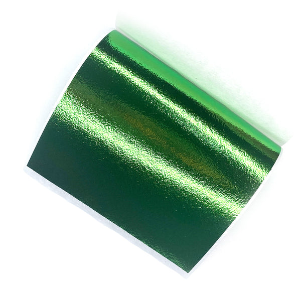 Green Metallic Foil Sheets - Pack of 5
