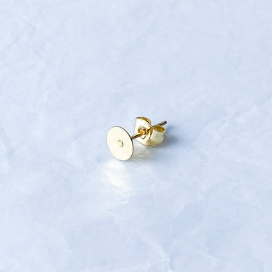 6mm Gold 304 Stainless Steel Earposts