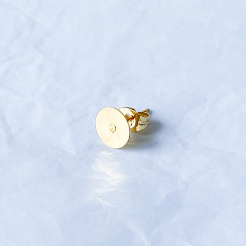 8mm Gold 304 Stainless Steel Earposts