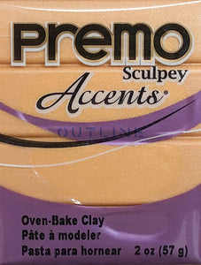 Premo 57g Polymer Clay - Accents 18K Gold