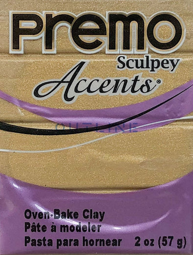 Premo 57g Polymer Clay - Accents Antique Gold
