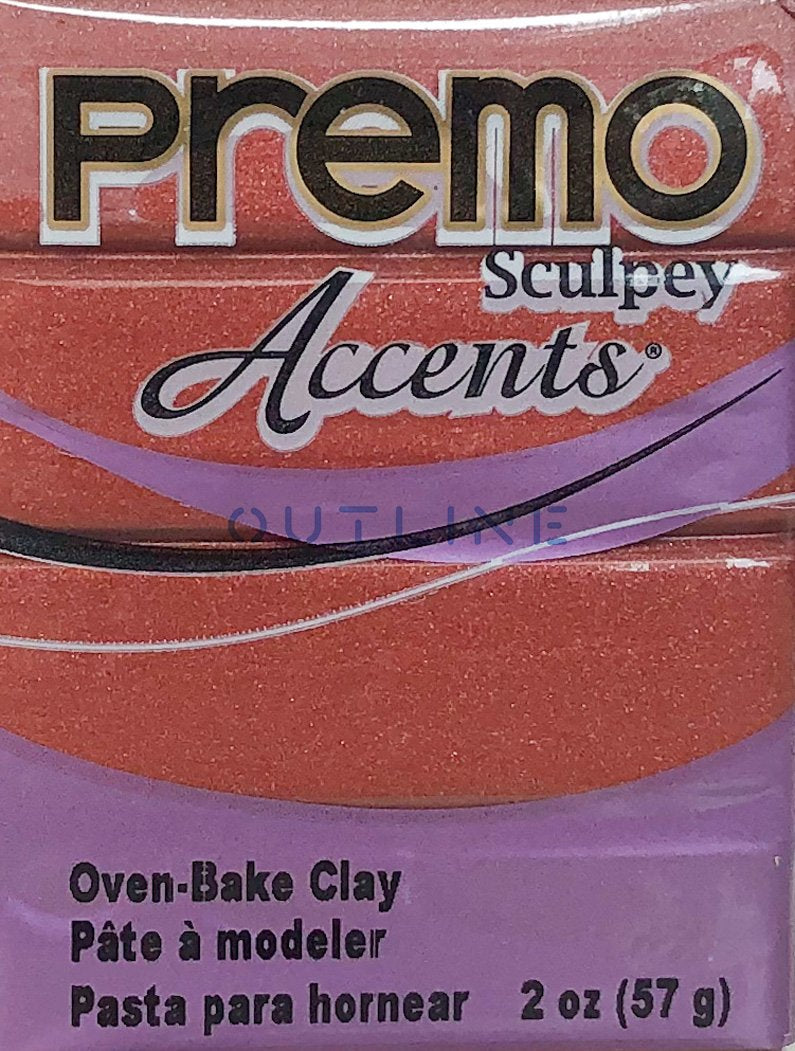 Premo 57g Polymer Clay - Accents Bronze