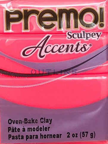 Premo 57g Polymer Clay - Accents Fluorescent Pink