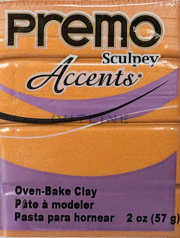 Premo 57g Polymer Clay - Accents Gold