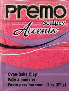 Premo 57g Polymer Clay - Accents Magenta Pearl