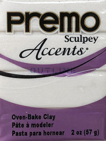 Premo 57g Polymer Clay - Accents Pearl