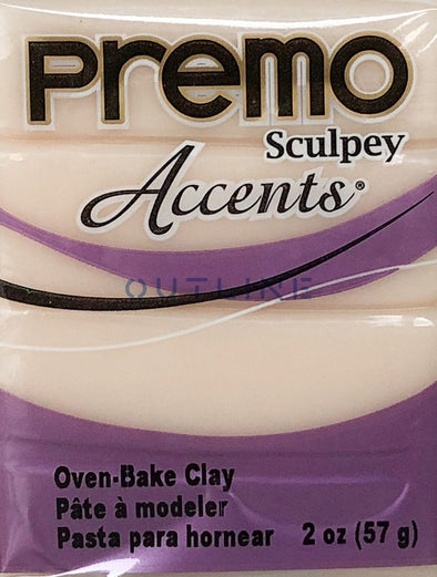 Premo 57g Polymer Clay - Accents Translucent