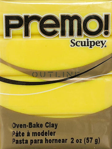 Premo 57g Polymer Clay - Zinc Yellow Hue