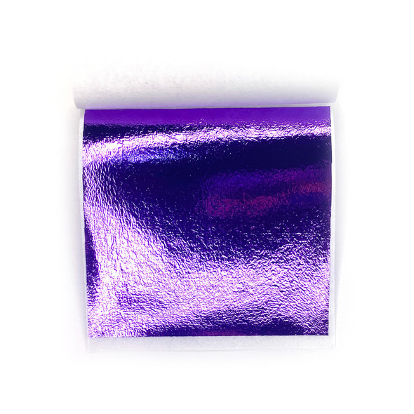 Purple Metallic Foil Sheets - Pack of 5