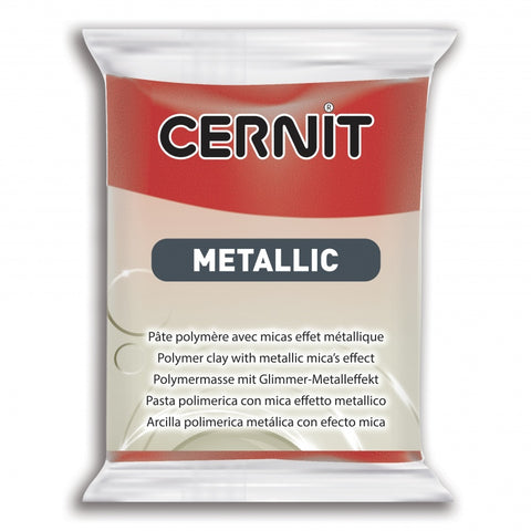 Cernit Metallic 56g - Red