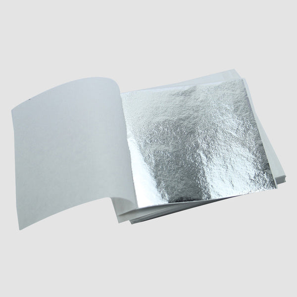 Silver Metallic Foil Sheets - Pack of 5