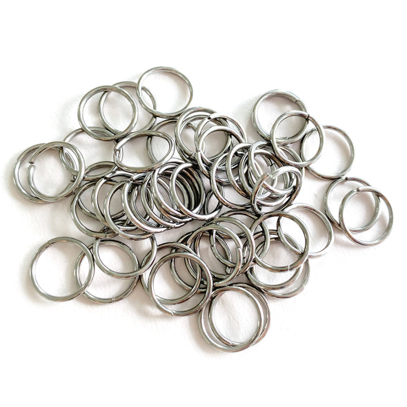 10mm Silver Stainless Steel Jump rings