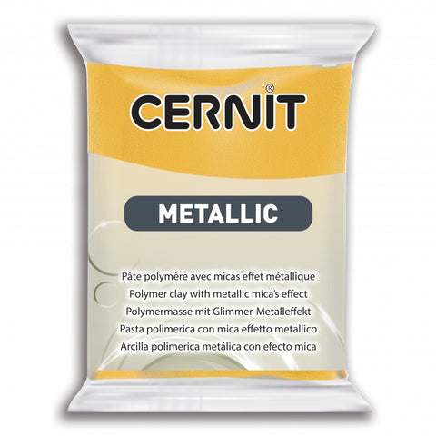 Cernit Metallic 56g - Yellow