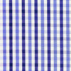 Navy with Blue Large Gingham Check Poplin Shirt