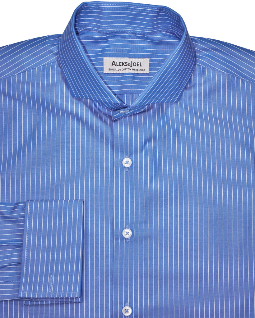 Medium Blue Pinstripe Poplin Shirt