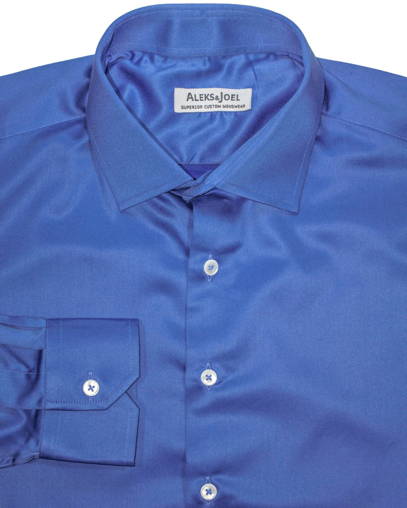 Medium Blue Solid Twill Shirt