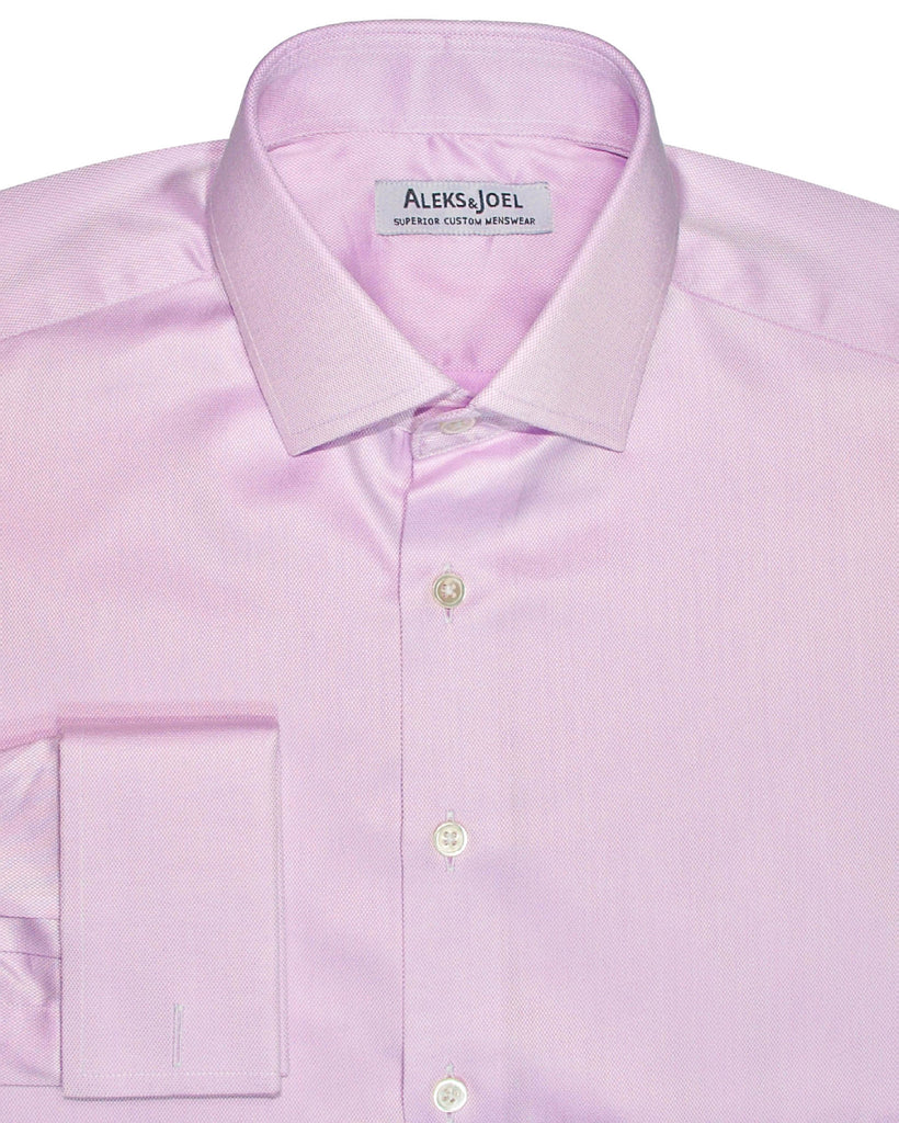 Pink Solid Diamond Weave Shirt
