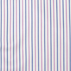 White with Pink & Blue Stripe Poplin Shirt Swatch