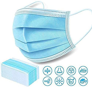 50Pcs Disposable Filter Mask 3 Ply Earloop Medical Dental Surgical Hypoallergenic Breathability Comfort Breathable Beauty Medical Dust Mask