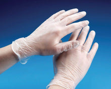 Load image into Gallery viewer, 100 Clear Vinyl Powder Free Examination Gloves Latex Free Gloves And Comfortable To Wear