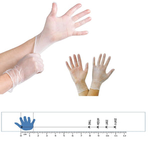 100 Clear Vinyl Powder Free Examination Gloves Latex Free Gloves And Comfortable To Wear