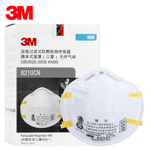 5pcs - 3M Safety 8210CN N95 Particulate Respirator, Smoke, Dust, Sanding for Adult