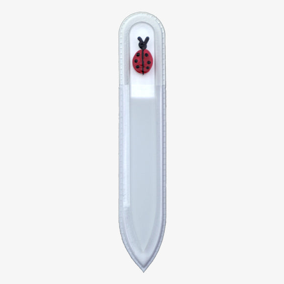 Small Hand-Painted Glass File (LADYBUG)