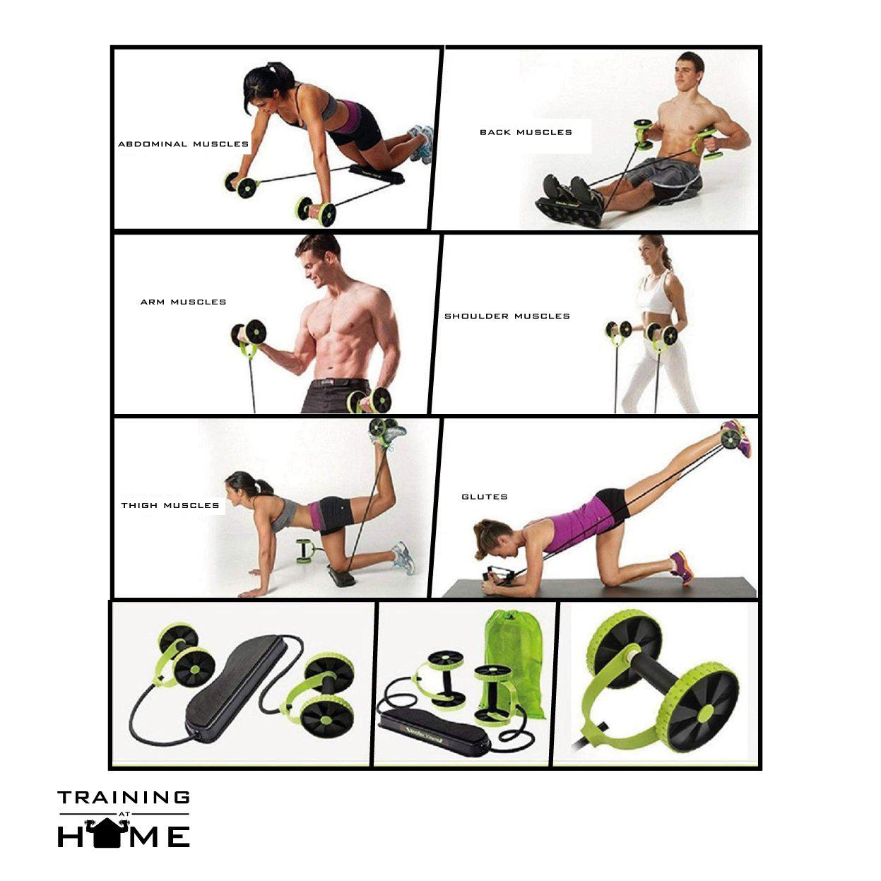💪PowerDoubleR™ Wheels Roller - Training at Home 🏠-Training at Home