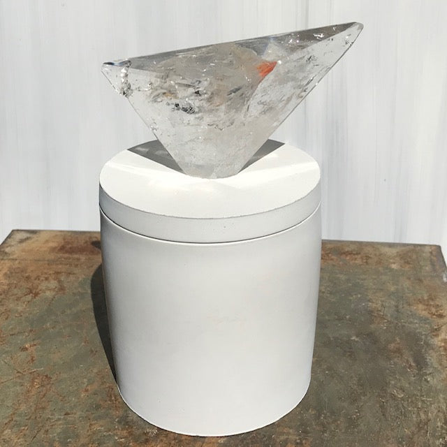 Geometric Polished Quartz Lid Candle