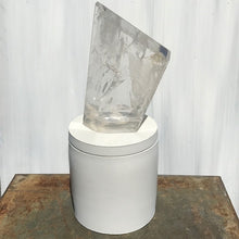 Load image into Gallery viewer, Asymmetrical Polished Quartz Crystal Lid Candle