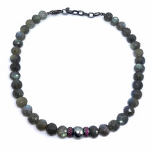 Load image into Gallery viewer, Labradorite Bead Necklace