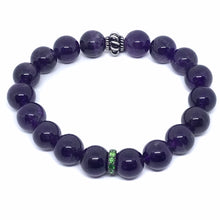 Load image into Gallery viewer, Amethyst Bead Bracelet