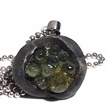 Load image into Gallery viewer, Green Sapphire Necklace