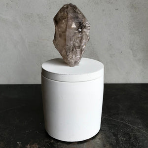 Smoky Quartz Crystal Candle
