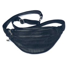 Load image into Gallery viewer, Crocodile 2x Zip Fanny Pack
