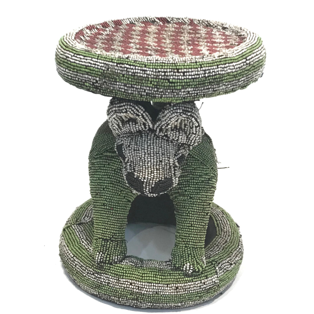 Multi-Color Beaded Stool