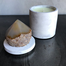 Load image into Gallery viewer, Smoky Quartz Point Lid Candle