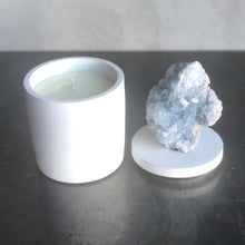 Load image into Gallery viewer, Celestite Crystal Lid Candle