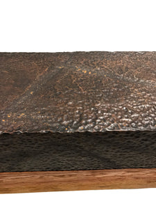 Long Hammered Copper Table