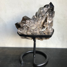 Load image into Gallery viewer, Smoky Quartz Cluster on Stand