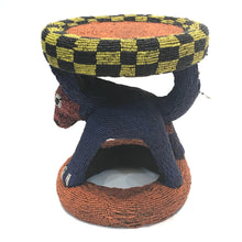 Load image into Gallery viewer, Beaded Stool / Side Table