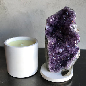 Amethyst Geode Lid Candle