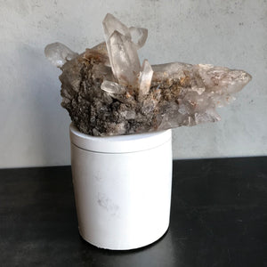 Smoky Quartz Cluster Lid Candle