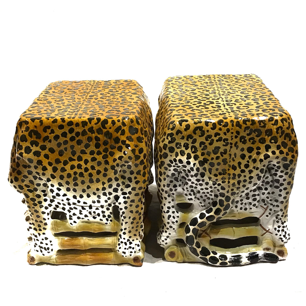 Pair of Italian Leopard Stools