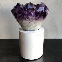 Load image into Gallery viewer, Amethyst XL Cluster Lid Candle