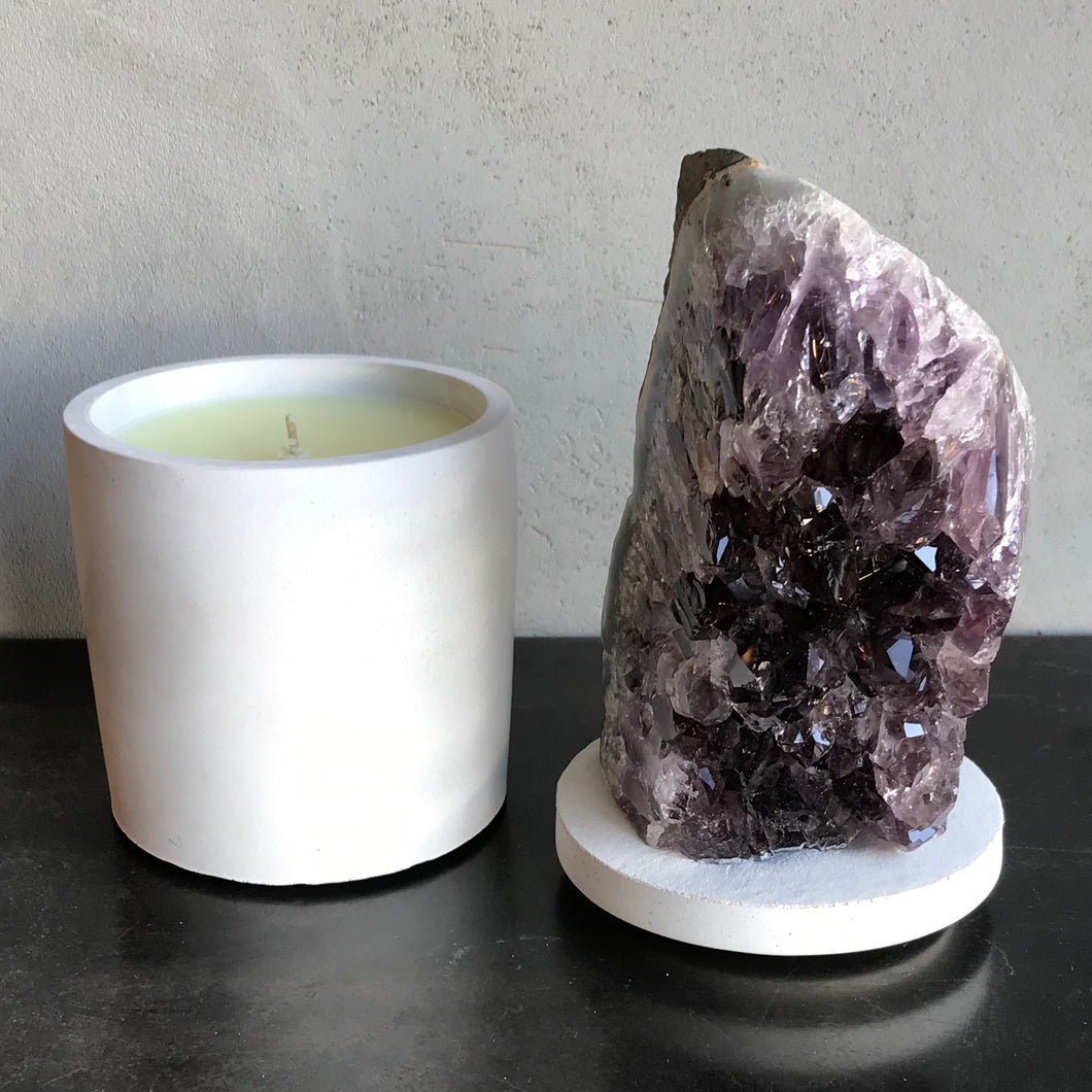 Amethyst with Agate Lid Candle